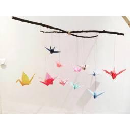 mobile grues origami