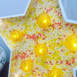 zoom sur le papier Adeline Klam de l'étoile lumineuse