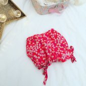 Bloomer, short, culotte bouffante, tissu liberty of London Mitsi rouge rose - 12 mois
