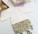 Bloomer, short, culotte bouffante, vêtement enfant 12 mois tissu Madame Mo 100% coton bio