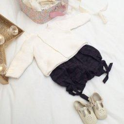 Bloomer, short, culotte bouffante, vêtement enfant, 12 mois tissu Atelier Brunette - Halo Dusk