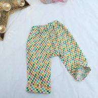 Sarouel, petit pantalon bébé 12 mois - tissu 100% coton bio Madame Mo